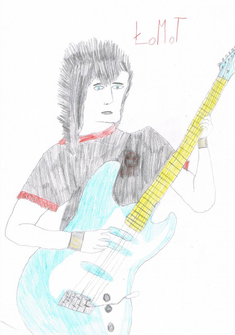 Wymyślony zespół Łomot część1 -gitarzysta Ryan.