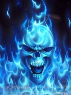 BlueFireSkull