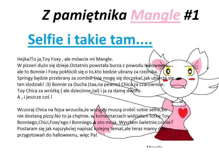 Z pamiętnika Mangle #1