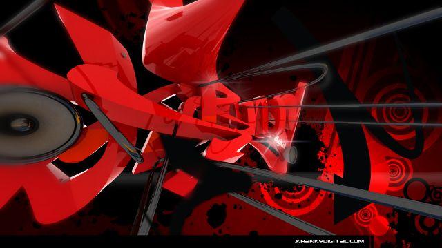 Czerwony abstrakt