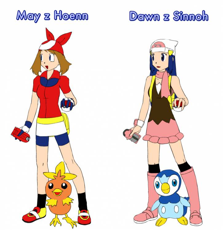 May i Dawn z Pokemonów