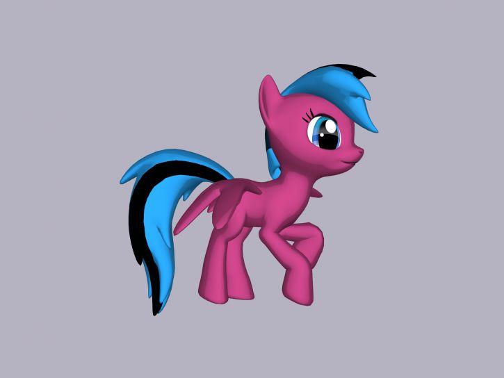 Pink Cream z 3d Pony Creator