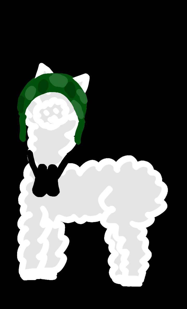 Lama autorstwa użytkowniczki Miszke