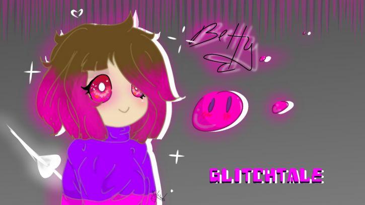 Randomowa kupa1- rysunek ode mnie z Glitchtale
