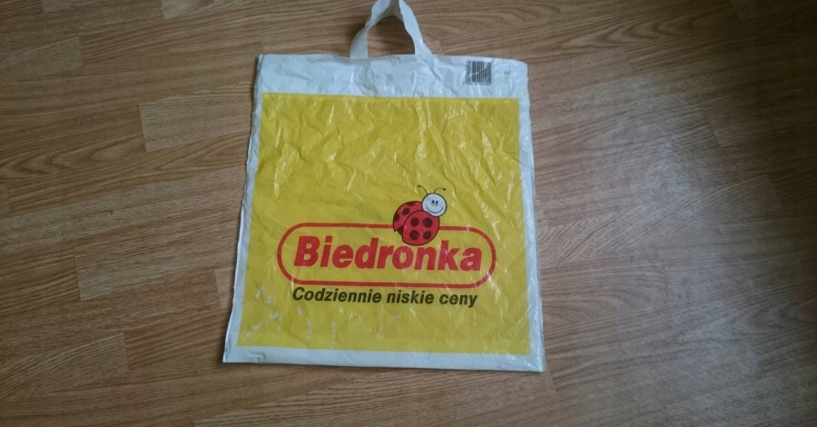 Reklamówki z Biedronki